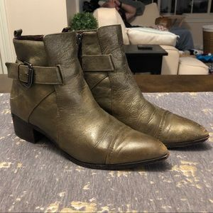 Donald J. Pliner Doma Metallic Gold/Green Boots